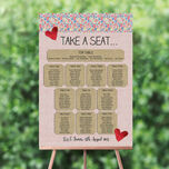Country Textiles Wedding Seating Plan additional 1
