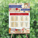 Vintage Airmail Wedding Seating Plan additional 1