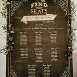 Chalkboard Wedding Seating Plan additional 3