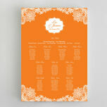 Romantic Lace Wedding Seating Plan additional 7