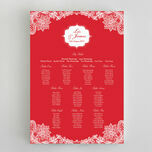 Romantic Lace Wedding Seating Plan additional 8