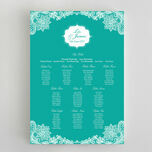 Romantic Lace Wedding Seating Plan additional 10