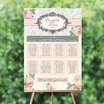 Sweet Vintage Wedding Seating Plan additional 1