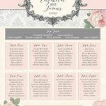 Sweet Vintage Wedding Seating Plan additional 3
