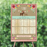 Rustic Woodland Wedding Seating Plan additional 1