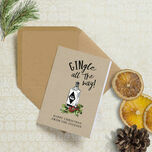 'Gingle all the way' Personalised Christmas Cards additional 1