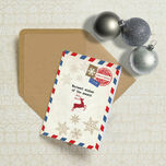 Vintage Airmail Personalised Christmas Cards additional 1