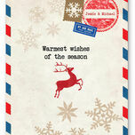 Vintage Airmail Personalised Christmas Cards additional 2