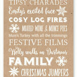 Personalised Typography Christmas Cards - Kraft additional 2