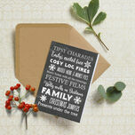 Personalised Typography Christmas Cards - Chalkboard additional 1