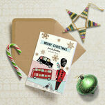 Illustrated London Themed Personalised Christmas Cards additional 1