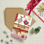 Rustic 'Love Birds' Personalised Christmas Cards additional 1