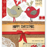 Rustic 'Love Birds' Personalised Christmas Cards additional 2