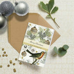Vintage Robin Personalised Christmas Cards additional 1