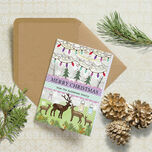 Woodland Deer Personalised Christmas Cards additional 1