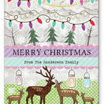 Woodland Deer Personalised Christmas Cards additional 2