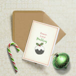'Peace, Love, Pudding' Personalised Christmas Cards additional 1