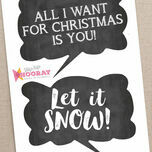 Christmas Holiday Chalkboard Speech Bubble Slogans - Printable Photo Booth Props additional 3