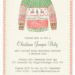 Personalised Christmas Jumper Party Invitations - Printed or Printable additional 2