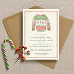 Personalised Christmas Jumper Party Invitations - Printed or Printable additional 1