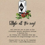 'GINgle all the way' Personalised Christmas Party Invitations - Printed or Printable additional 2
