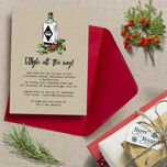 'GINgle all the way' Personalised Christmas Party Invitations - Printed or Printable additional 1