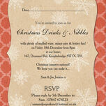 Rustic Red & Kraft Vintage Personalised Christmas Party Invitations - Printed or Printable additional 2