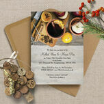 Mulled Wine & Mince Pies Personalised Christmas Party Invitations - Printed or Printable additional 1