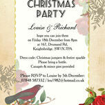 Personalised 'Winter Wonderland' Christmas Party Invitations - Printed or Printable additional 2