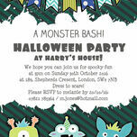Personalised Monster Bash Halloween Party Invitations - Printable or Printed additional 2