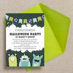 Personalised Monster Bash Halloween Party Invitations - Printable or Printed additional 3