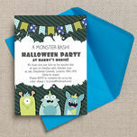 Personalised Monster Bash Halloween Party Invitations - Printable or Printed additional 1