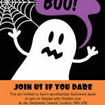 Halloween Ghost Personalised Party Invitations - Printable or Printed additional 3