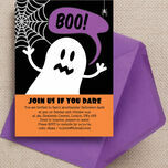 Halloween Ghost Personalised Party Invitations - Printable or Printed additional 1