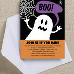 Halloween Ghost Personalised Party Invitations - Printable or Printed additional 2