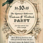 Personalised Vintage Halloween Party Invitations - Printable or Printed additional 2