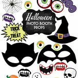 Printable DIY Halloween Photo Booth Props additional 1