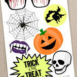 Printable DIY Halloween Photo Booth Props additional 4