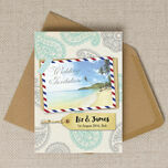 Exotic Beach Postcard Wedding Invitation additional 2