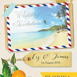Florida Beach Postcard Wedding Invitation additional 4