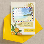 Florida Beach Postcard Wedding Invitation additional 2