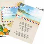 Florida Beach Postcard Wedding Invitation additional 3