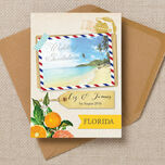 Florida Beach Postcard Wedding Invitation additional 1
