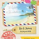 Mexico Beach Postcard Wedding Invitation additional 4