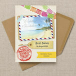 Mexico Beach Postcard Wedding Invitation additional 3