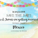 Mexico Beach Postcard Save the Date additional 4