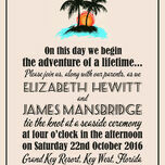 Retro Palm Trees Wedding Invitation additional 5