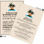 Retro Palm Trees Wedding Invitation additional 3