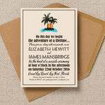 Retro Palm Trees Wedding Invitation additional 2