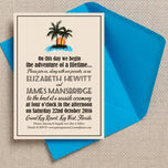 Retro Palm Trees Wedding Invitation additional 1